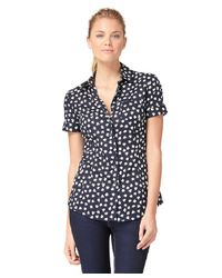 Brooks Brothers Blue Clover Blouse