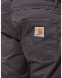 Carhartt Gray Skill Chinos Slim Straight Fit for men