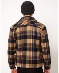 Lee Jeans Natural Jacket Wool Blanket Check Zip Front for men