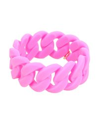 Marc By Marc Jacobs - Pink Key Items Wide Rubber Katie Bracelet - Lyst