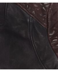 AllSaints Black Rixey Leather Bomber Jacket