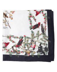 Brooks Brothers | Black Floral Print Silk Chiffon Scarf | Lyst
