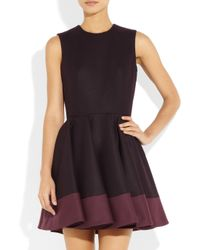 Alexander McQueen Purple Flared Wool-Felt Dress