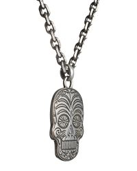 Simon Carter - Metallic Skull Necklace  for Men - Lyst