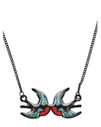 Tatty Devine | Black Swallow Necklace | Lyst
