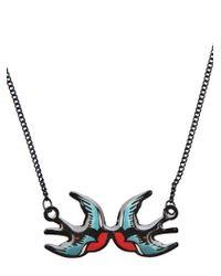 Tatty Devine | Black Swallow Necklace | Lyst