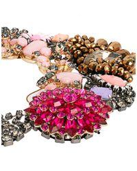 ASOS - Multicolor Premium Jewelled Flower Collar Necklace - Lyst
