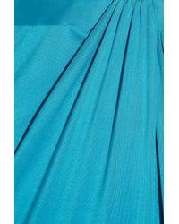 Issa - Blue Silk-jersey Halterneck Gown - Lyst