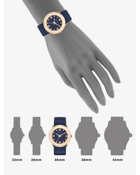 Marc By Marc Jacobs   Blue Gold-Tone Stainless Steel Watch   Lyst