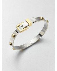 Michael Kors | Metallic Studded Buckle Bangle Braceletsilvertone | Lyst