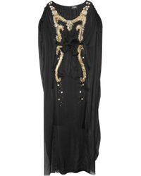 Temperley London | Black Long Narcissa Embellished Silk Kaftan | Lyst