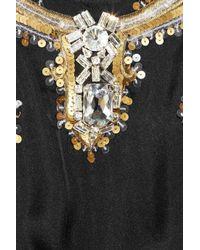 Temperley London - Black Long Narcissa Embellished Silk Kaftan - Lyst