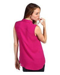 Theory Pink Top Malta Sleeveless