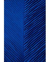 TOPSHOP | Blue Texture Pleat Tunic | Lyst