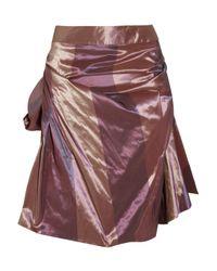 Vivienne Westwood Red Label Purple Striped Iridescent Taffeta Skirt