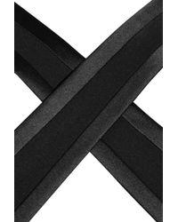 Saint Laurent | Black Satin Trimmed Silk Jersey Jumpsuit | Lyst