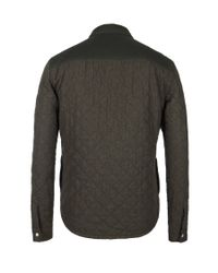 AllSaints Green Gamekeeper Quilted Shirt for men