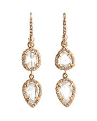 Irene Neuwirth Metallic Rose Cut Pave Diamond Earrings