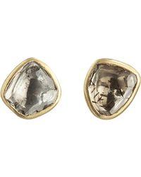 Pippa Small Metallic Foil Back Diamond Stud Earrings