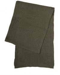 Dior Homme - Green Chevron Point Wool Alpaca Knit Scarf for Men - Lyst