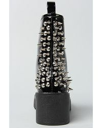 Jeffrey Campbell 8th St Black Patent Leather Spiked Boot
