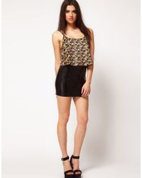 ASOS Collection - Multicolor Asos Sequin Embellished Cropped Cami - Lyst