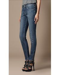 Burberry Brit | Blue Burrington Skinny Fit with Zip | Lyst