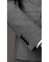 Burberry | Gray Wool and Mohair Slim Fit Suit for Men | Lyst