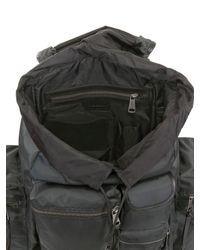 Dolce & Gabbana - Black Nylon Multi Pocket Backpack for Men - Lyst
