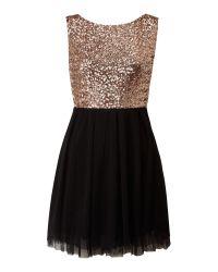 TFNC London | Black Sequin Top Prom Dress | Lyst