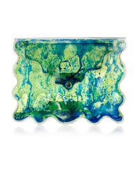 Christopher Kane Blue Aqua Bag
