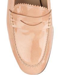 J.Crew Natural Biella Patent-leather Loafers