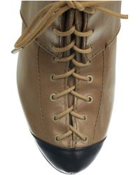 McQ Brown Lace-up Leather Ankle Boots