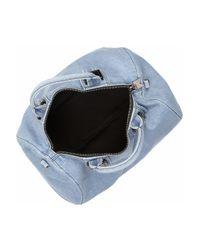 Meredith Wendell Blue Washed-denim Duffel Bag