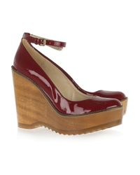 Stella McCartney | Purple Faux Patent-leather Wedges | Lyst