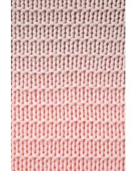 Topshop | Pink Knitted Dip Dye Chunky Jumper | Lyst