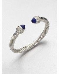 David Yurman | Blue Lapis Sterling Silver Bangle Bracelet | Lyst