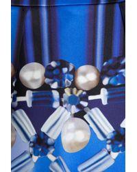 Mary Katrantzou   Blue Algernon Printed Faille Mini Skirt   Lyst