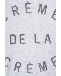 Zoe Karssen | Gray Crème De La Crème Bf Tshirt | Lyst