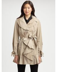 Cole Haan - Natural Packable Ruffle Jacket - Lyst