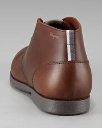Ferragamo - Brown Metro 2 Chukka Boots for Men - Lyst