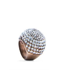 Mango - Metallic Touch Crystal Ring - Lyst
