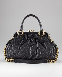 Marc Jacobs - Quilted Stam Satchel, Black - Lyst
