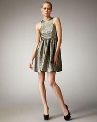 Tibi | Metallic Paisley Jacquard Dress | Lyst