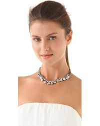 Tom Binns Gray Madame Dumont Necklace with Crystals