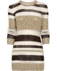 Jason Wu | Brown Qi Striped Crewneck Sweater | Lyst