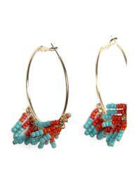 Mango | Blue Coloured Long Earrings | Lyst