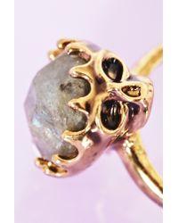 Nasty Gal - Metallic Stoned Skull Ring - Lyst