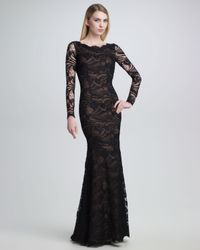 Emilio Pucci | Black Openback Lace Gown | Lyst