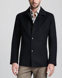 Ermenegildo Zegna | Blue Wool-silk Jacket for Men | Lyst